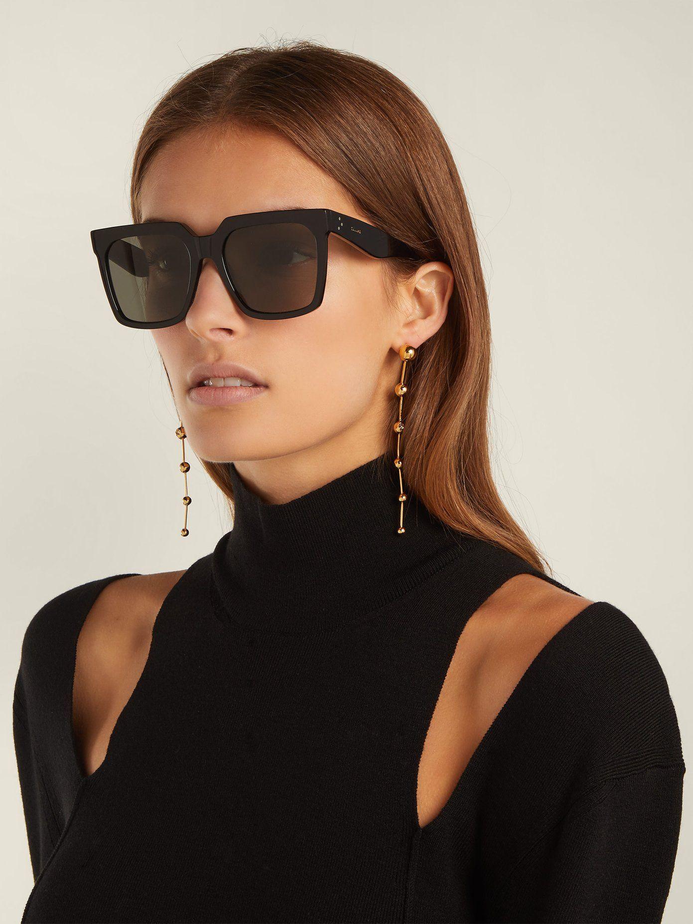 6667fcf8485a Oversized square acetate sunglasses