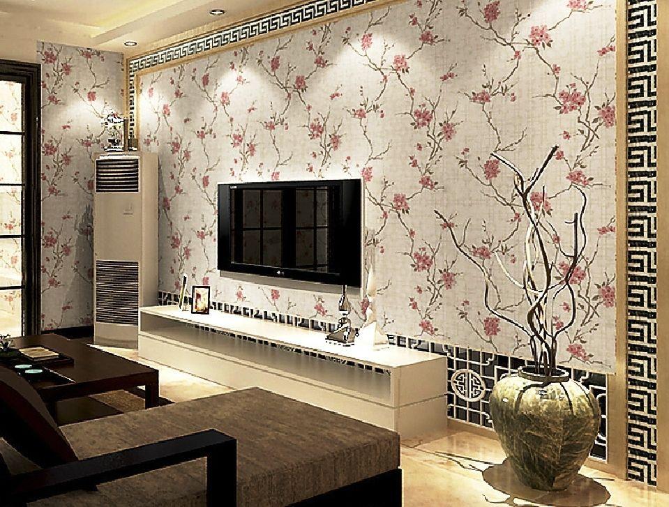 Motif Wallpaper Wallpaper Dinding Ruang Tamu Kecil