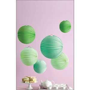 Paper Lanterns Walmart Delectable Martha Stewart Celebrate Paper Lanterns Green  Picnic Party Inspiration