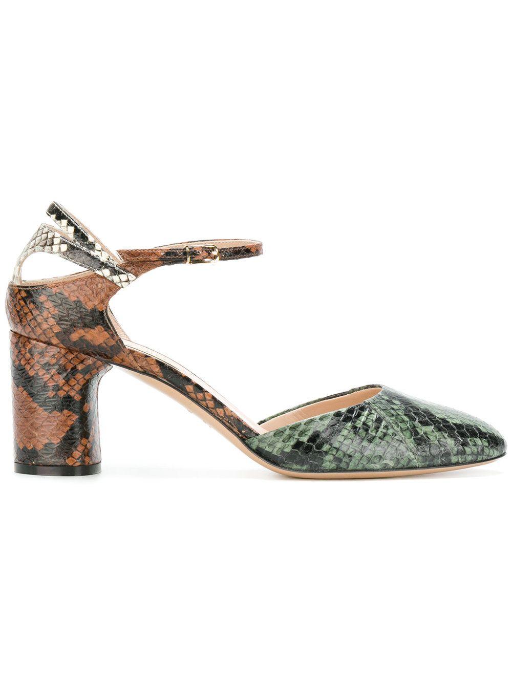 44cac312b55 CASADEI | snakeskin block-heel pumps #Shoes #CASADEI | Fashion