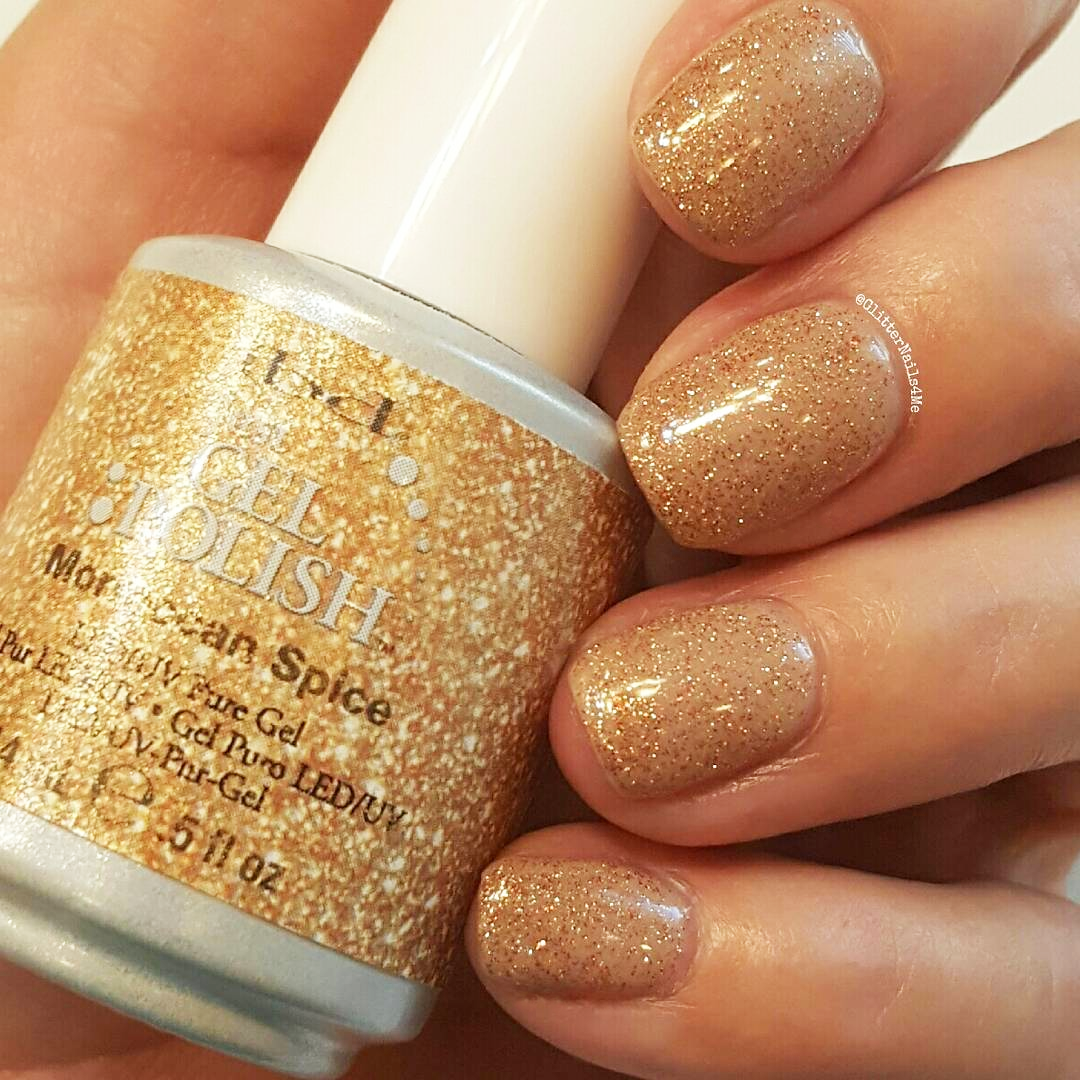 Spice up nude shades with glitters like @glitternails4me who used ...