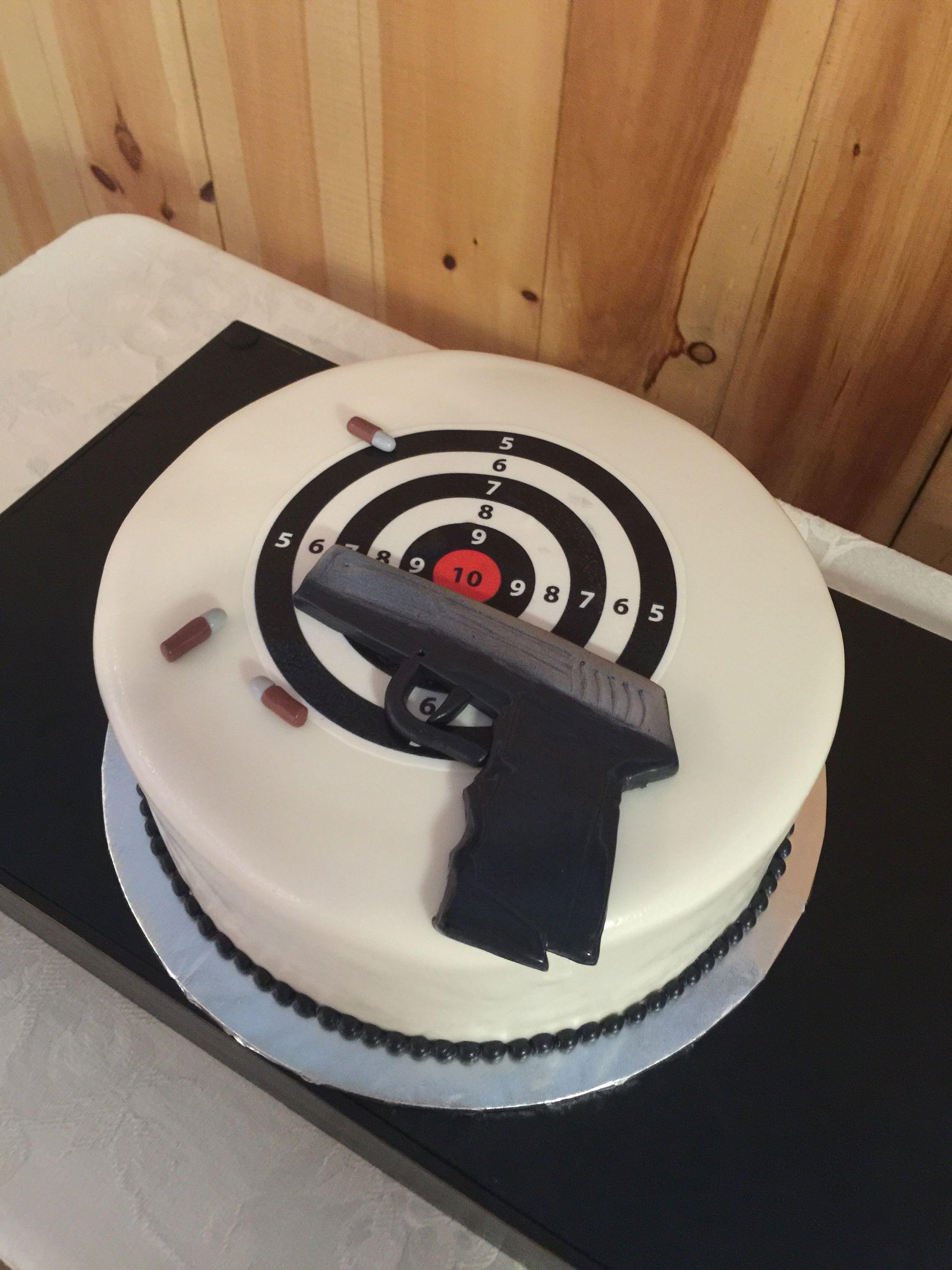 Target And Gun Cake
