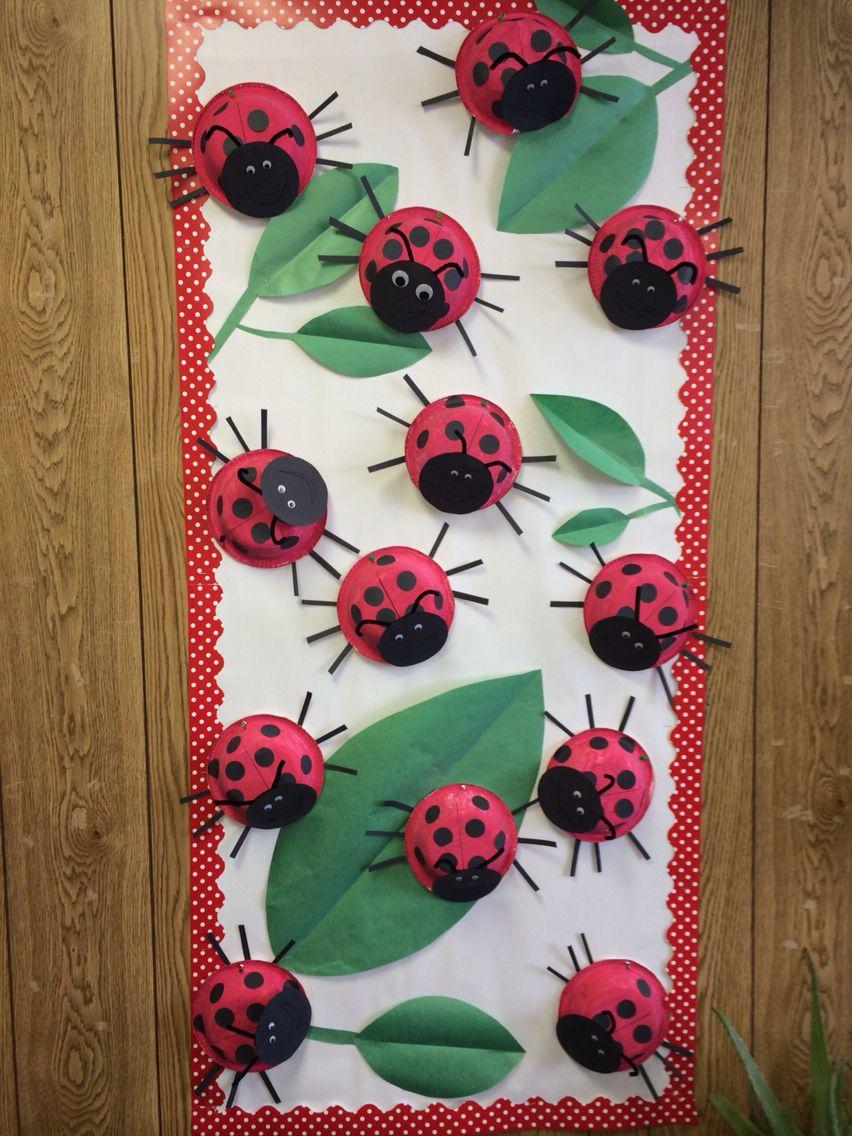Ladybug Classroom Decoration Ideas ~ Lady bugs school bulletin board pinterest