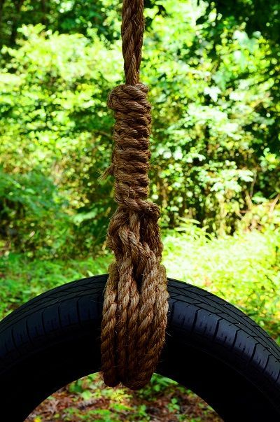 How To Make A Tire Swing Kids Space Ideas Diy Tire Swing