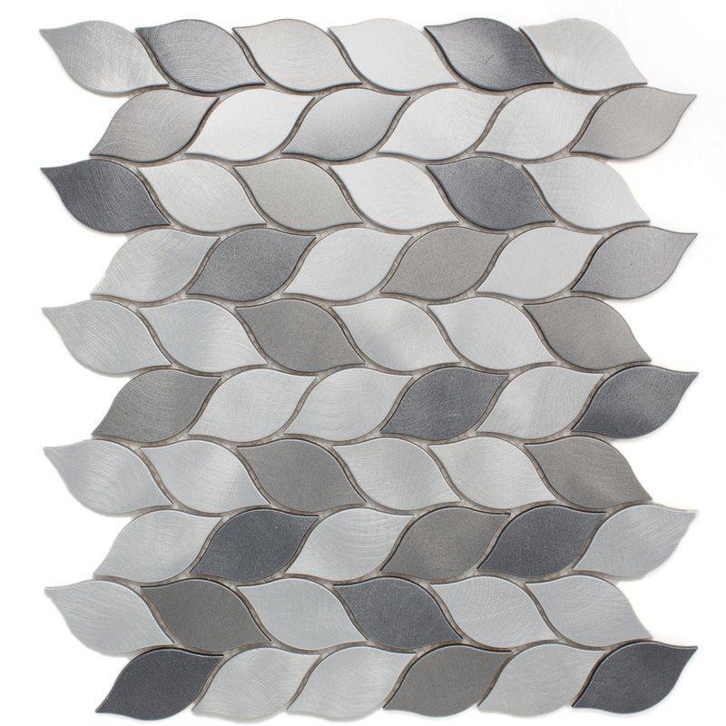 Leaf 12 X 14 Metal Mosaic Tile Metal Mosaic Tiles Mosaic Tiles Mosaic Tile Backsplash