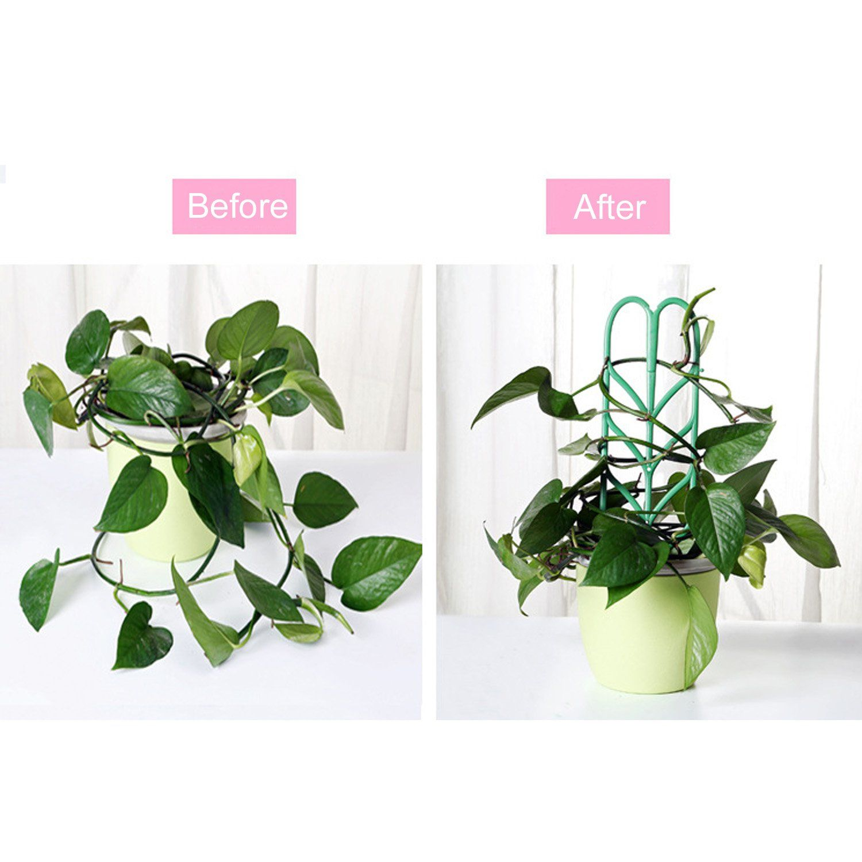 3Pcs Mini Diy Leaf Shape Garden Trellis Plants Lattice 400 x 300