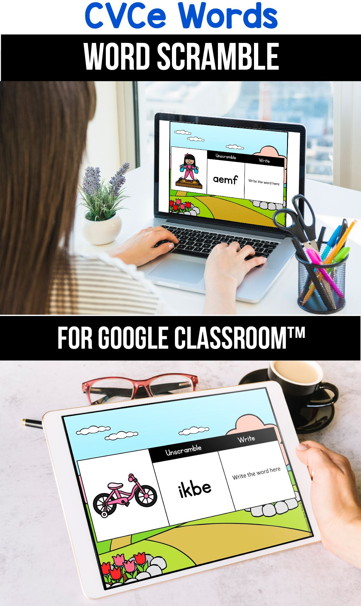 Classroom Distance Learning Packets Cvce Word