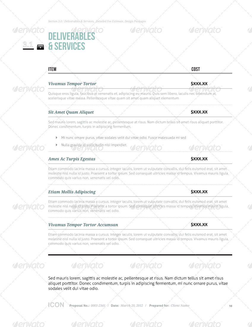 Icon Proposal Template W Invoice  Contract  Graphicriver
