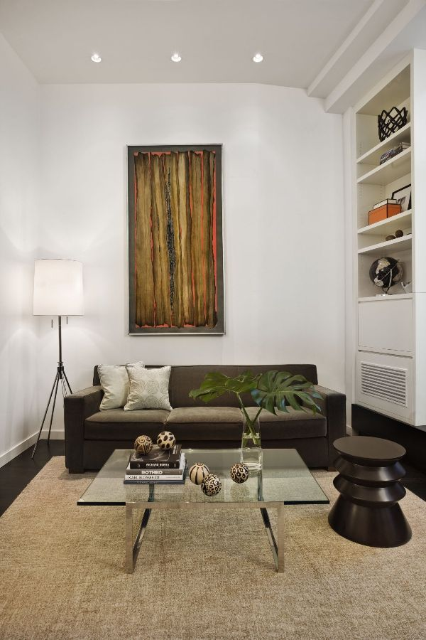 Modern Loft Style Apartment Family Room After Redesign Photo