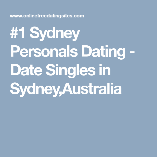 Sydney personals classifieds