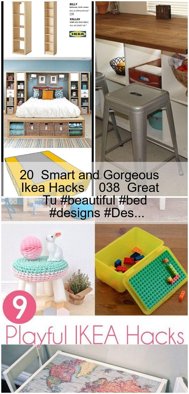 20 Intelligente Und Wunderschone Ikea Hacks 038 Great Tu Beautiful Bed Designs Des Ikea Hack Kids Seating Kids Pillows