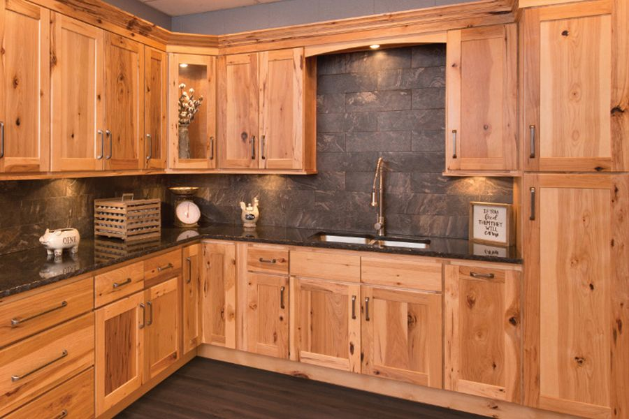 Faircrest Hickory Shaker Kitchen Cabinets Kitchen Cabinets