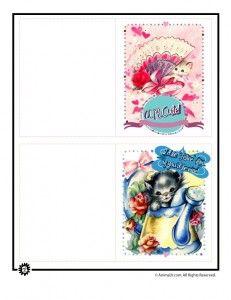 printable valentines vintag 231x300 Printable Valentine Cards for Kids