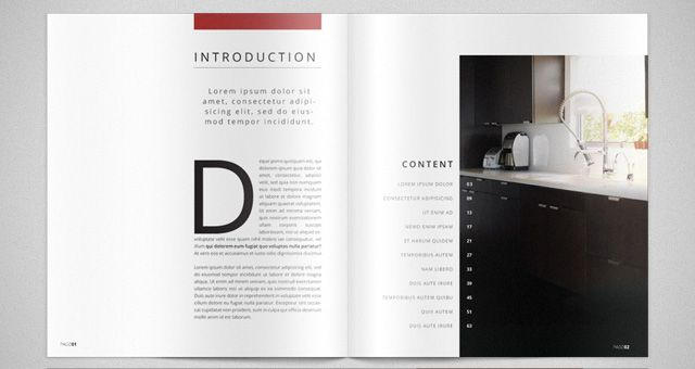 Modern catalog magazine template catalog templates Modern design magazine