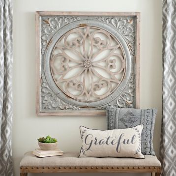 Galvanized Metal Medallion Wall Plaque Decor Home Decor Tuscan