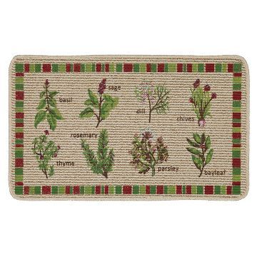 Green Herbs Kitchen Rug 18 Kitchen Rugs And Mats Rugs Kitchen Rug