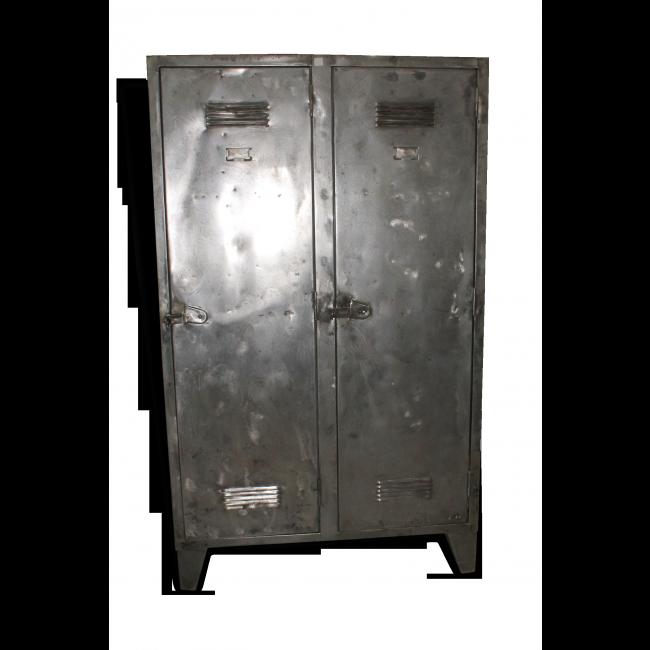 armoire metallique metal gris bon