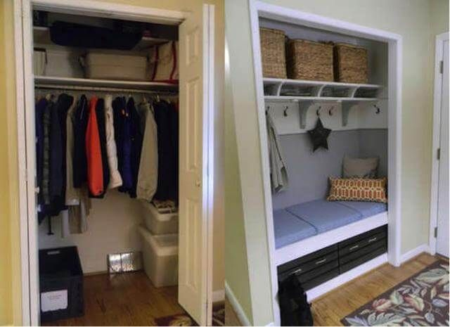 Front Foyer Closet Doors : How to create a mudroom from scratch https: www.closetfactory.com