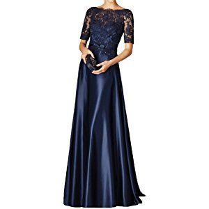 milano bride damen elegant lang spitze langaermel abendkleider ballkleider brautmutterkleider