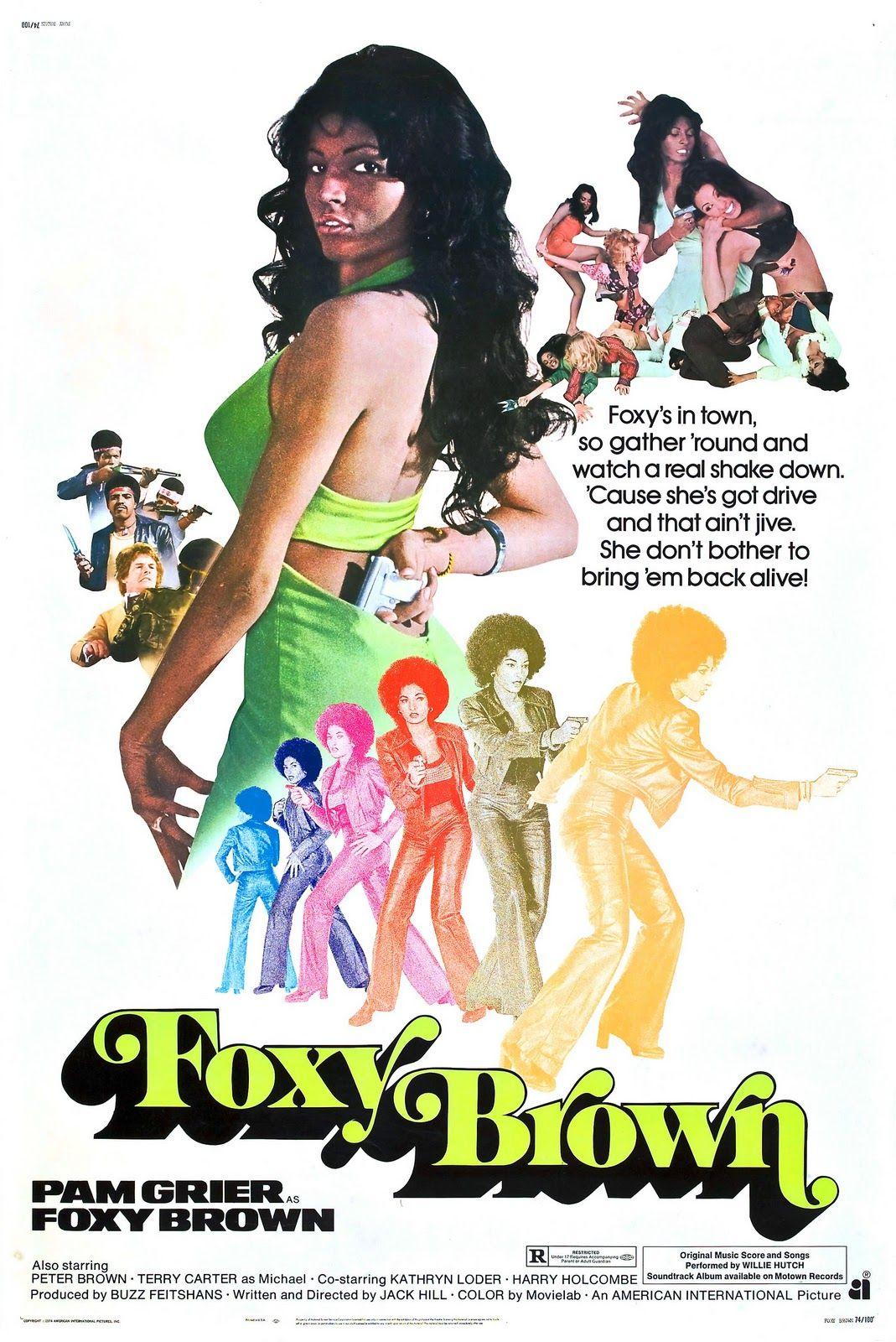 Foxy Brown T Shirt; Pam Grier Foxy Brown Movie Poster tee shirt