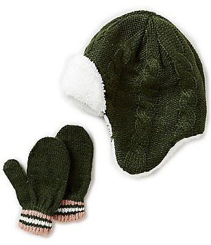 ad9e113ca504 Starting Out Baby Boys Cable-Knit Pilot Hat   Mittens Set