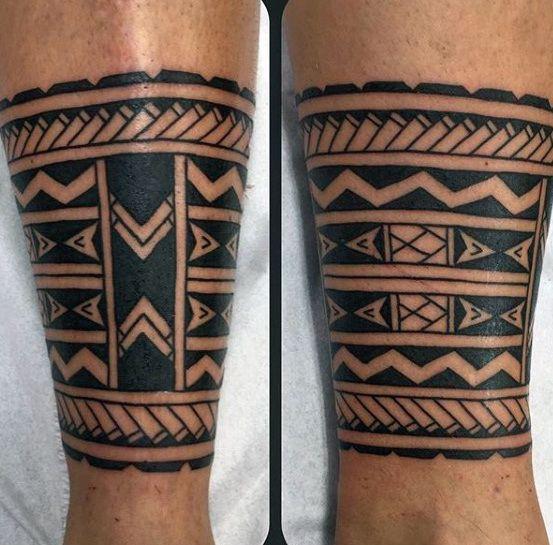 Top 37 Calf Band Tattoo Ideas 2020 Inspiration Guide Leg Band Tattoos Samoan Tattoo Maori Tattoo