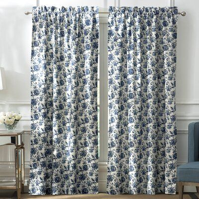 Marquis By Waterford Oake Floral Blackout Rod Pocket Curtain