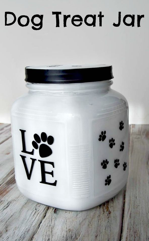 An Easy Diy Dog Treat Jar For Storing Healthy Snacks Your Favorite Furry Friend Beyondsnacks Ad