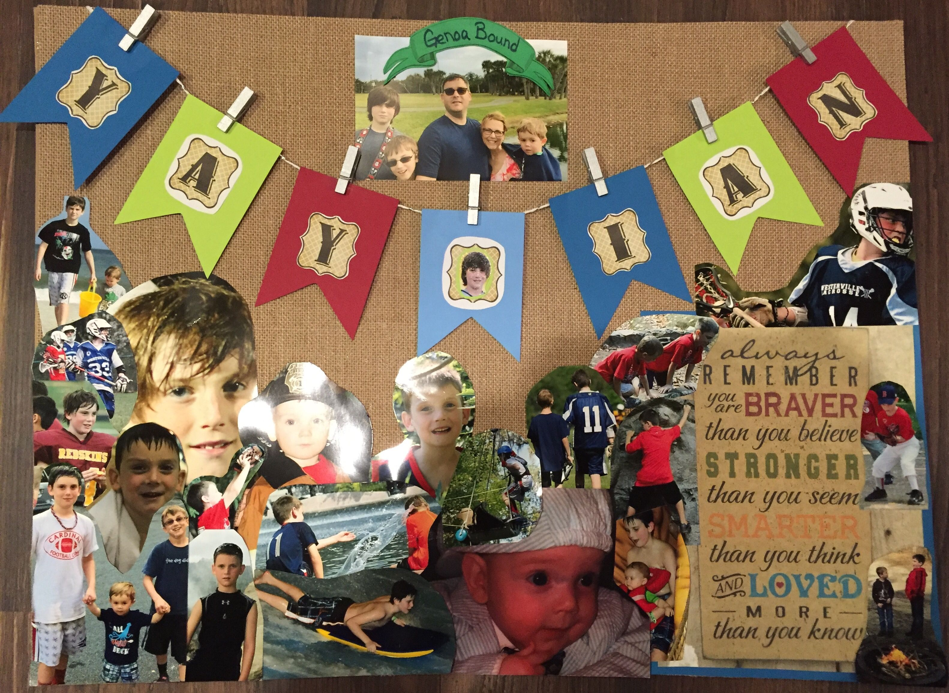 The poster I made for my son s 5th grade graduation