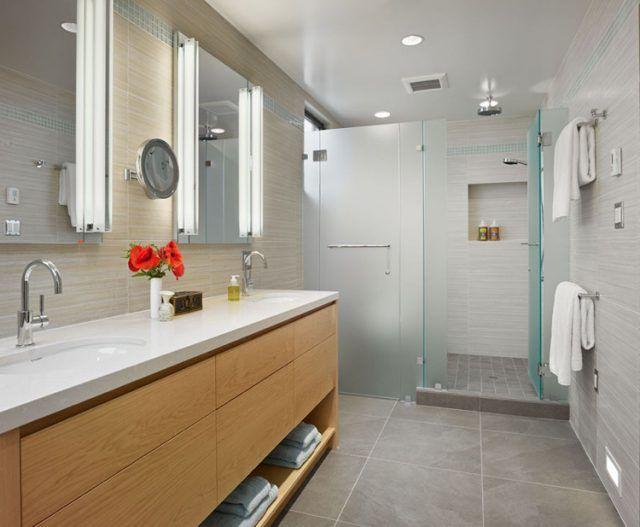 Meuble sous lavabo salle de bain doté d\u0027étagères ouvertes \u2013 15