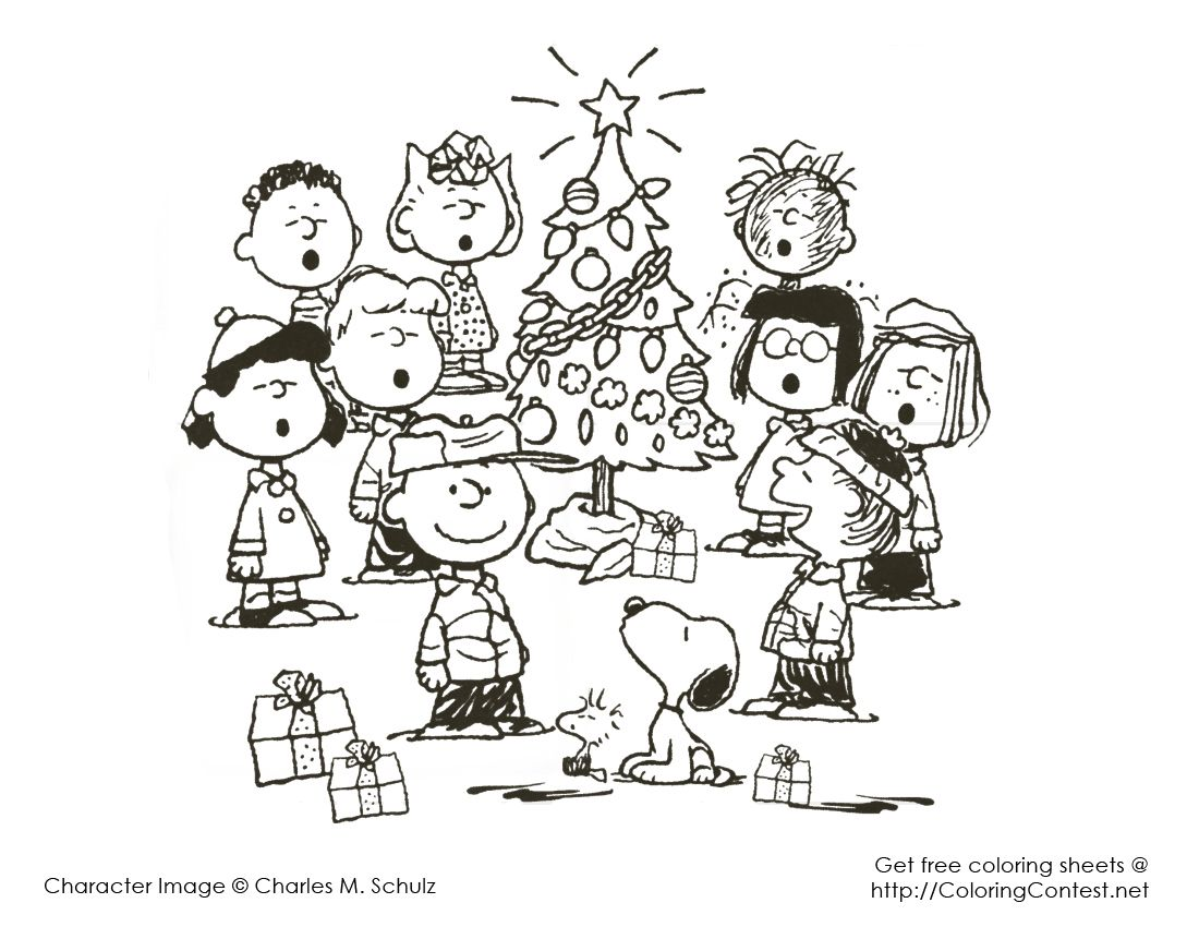 snoopy christmas coloring pages 3 - Coloring Pages Of Christmas Trees 3