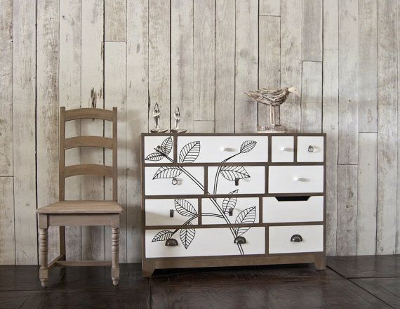 Smithers of Stamfords Nostalgic range - For Her Contemporary 12 draw wide chest drawers in white. Based on 1930s furniture with a modern