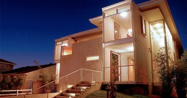 Houses made from containers. Just lovely!