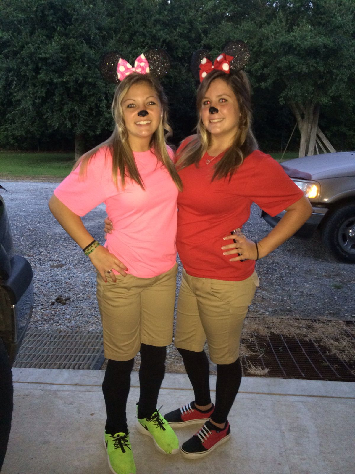 For Twin Day My Bestfriend In The Pink And I Dressed Up As