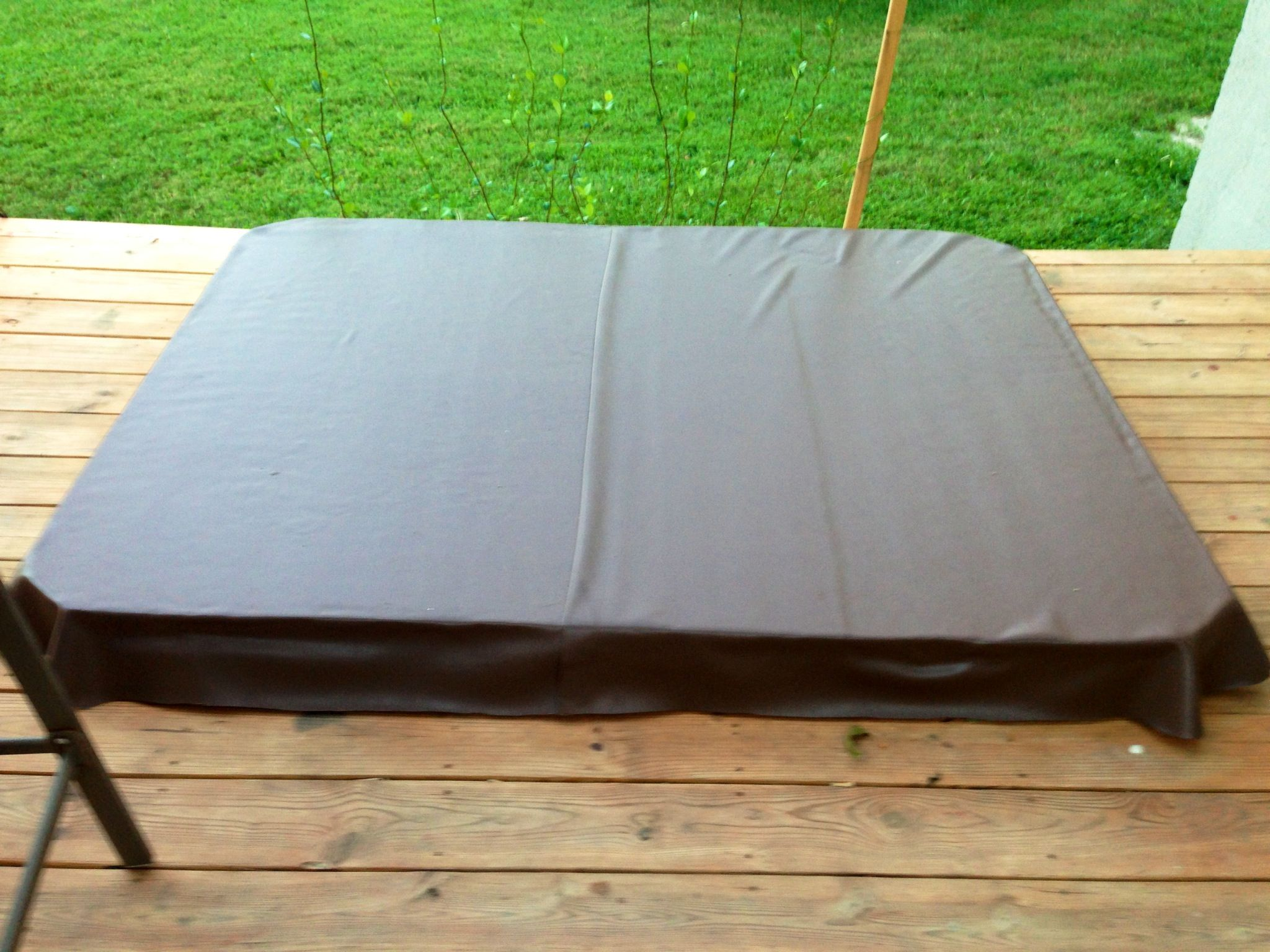 Cheap diy hot tub jacuzzi 4 - Diy Hot Tub Cover 2 Foam Insulation Wrapped In Vinyl