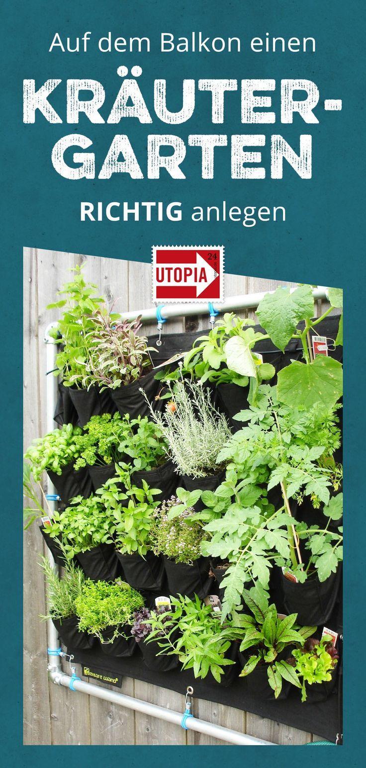 Diese Kräuter kann man gut auf dem Balkon anpflanzen #kleinekräutergärten