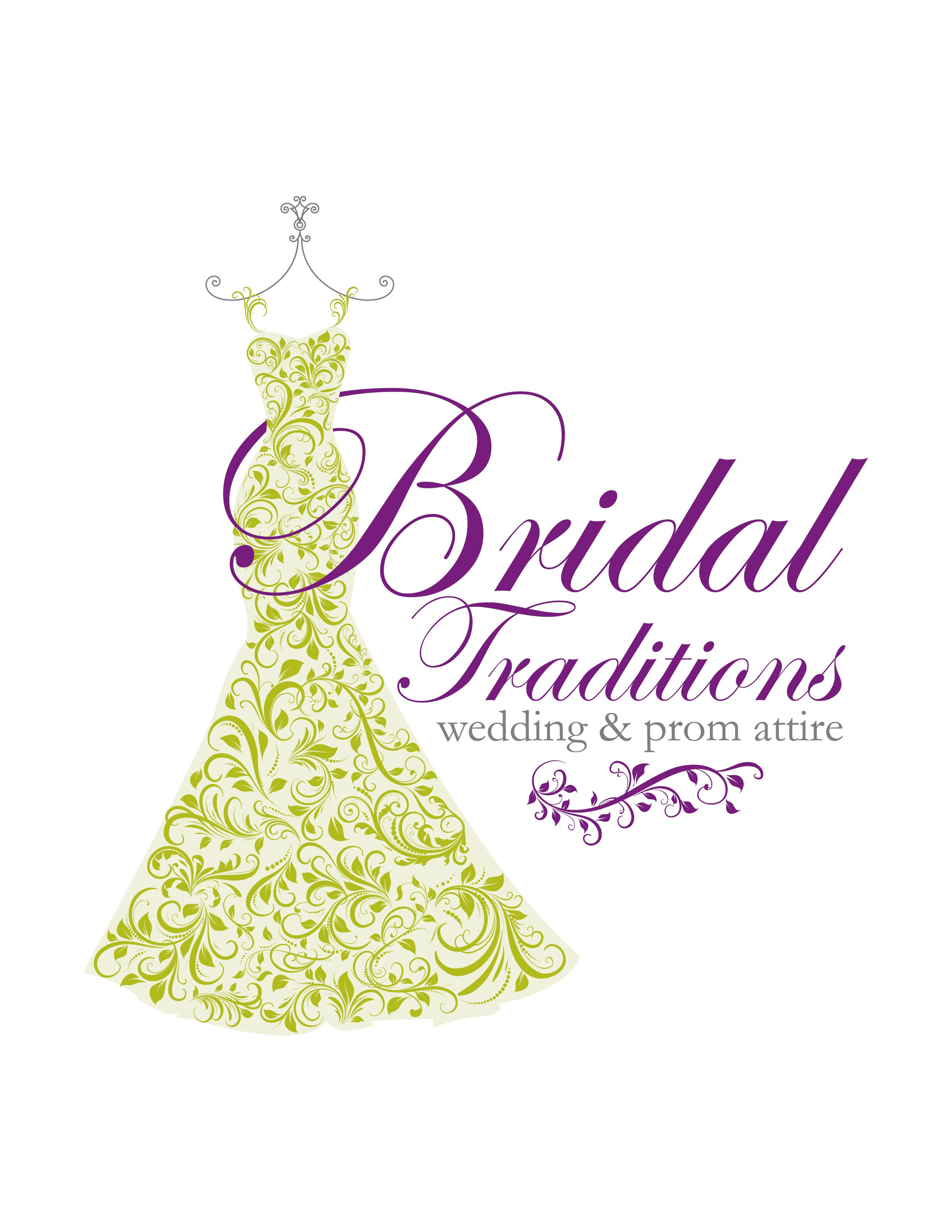 The final Vertical Logo for Bridal Traditions designed by
