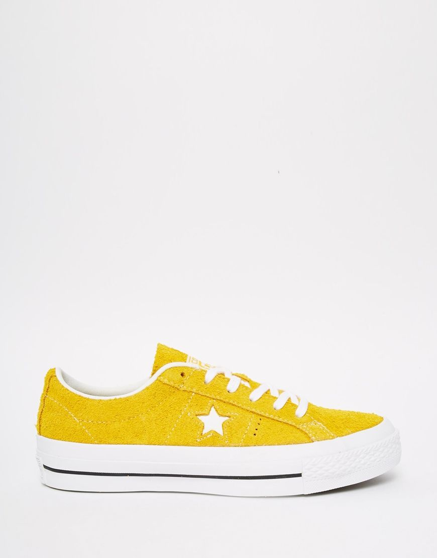 cede77ec89b Image 2 of Converse Cons One Star Yellow Brushed Suede Trainers ...