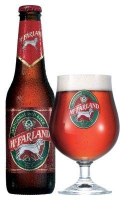 Cerveja McFarland, estilo Irish Red Ale, produzida por Murphy´s, Irlanda. 5.6% ABV de álcool.