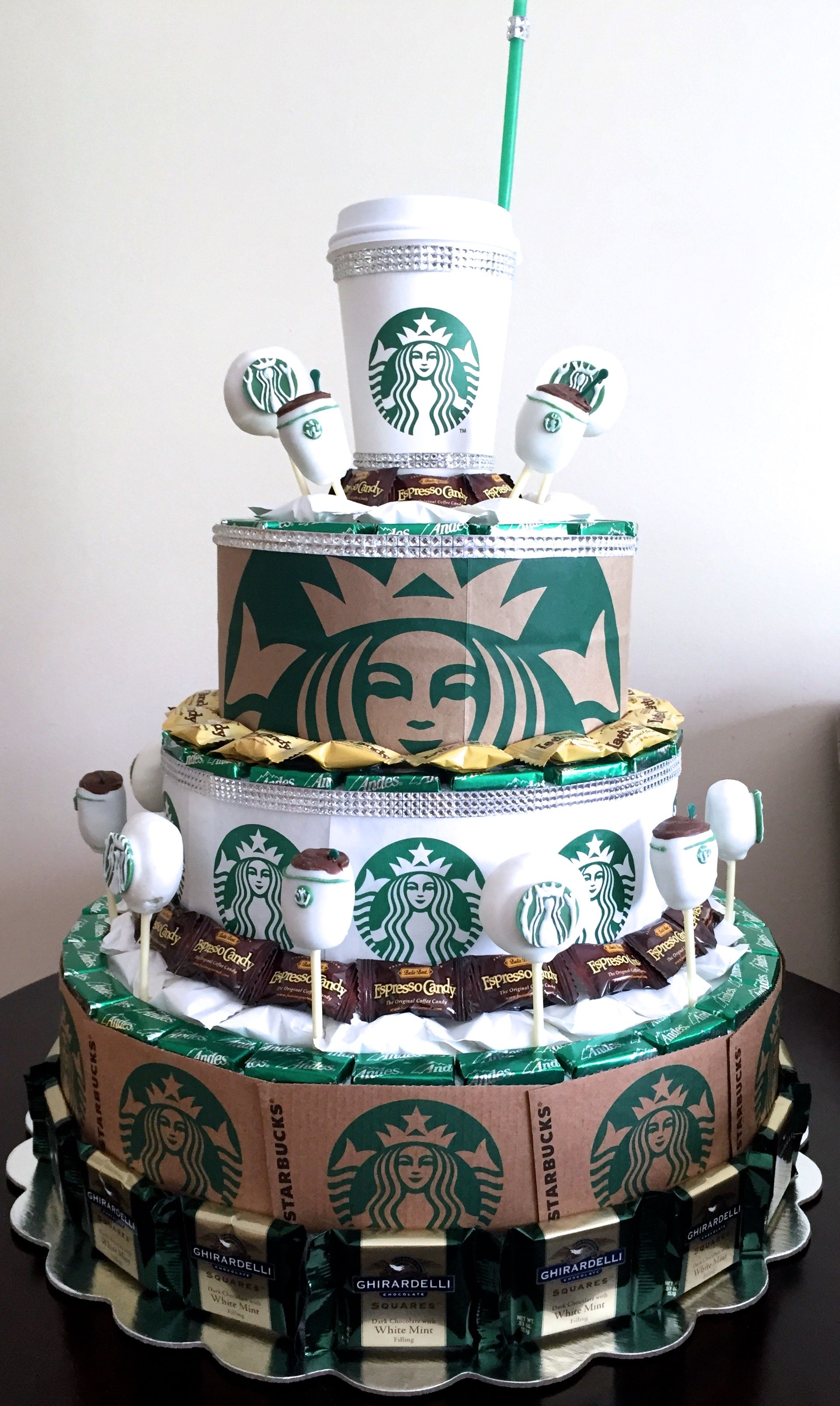 Starbucks Party Candy Centerpieces By Nicole Fiss In