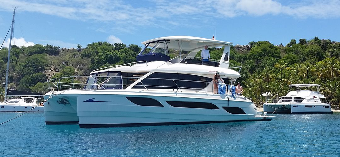 Marinemax 484 Is The Leading Luxury Power Catamaran Charter In The Bvi Designed As A Personal Cruise Ship No Other Bvi Catamaran Yacht Power Catamaran Yacht