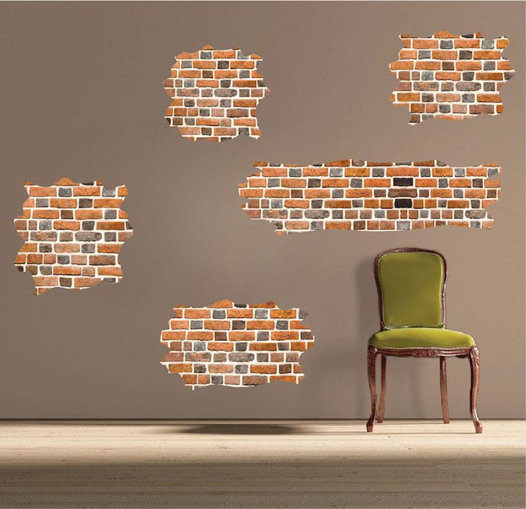 Brick Self Adhesive Wall Decals Wallpaper Decal Murals