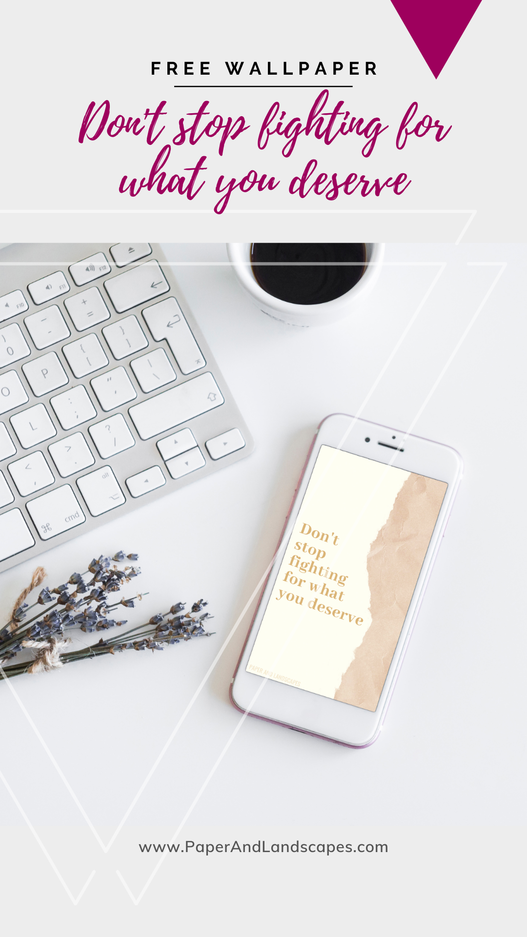 The free wallpaper featured today is a reminder to keep going, keep fighting, keep moving towards your goals. Never stop fighting for the things you know you deserve. ❤  #paperandlandscapes #blog #lifestyleblog #craftblog #diyblog  #freewallpaper #freebie #freedownload #motivation #inspiration #dontstopfighting