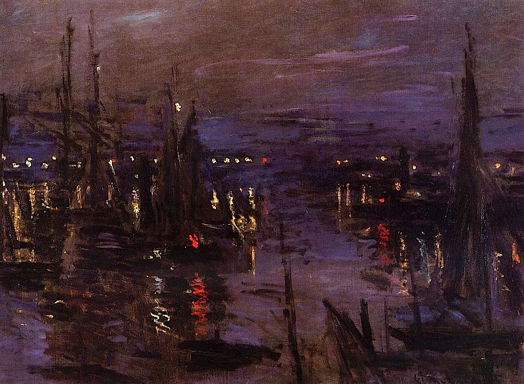 The Port of Le Havre, Night Effect Claude Monet - 1873