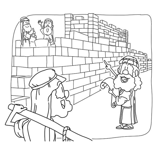 38+ Nehemiah rebuilding the wall coloring page HD
