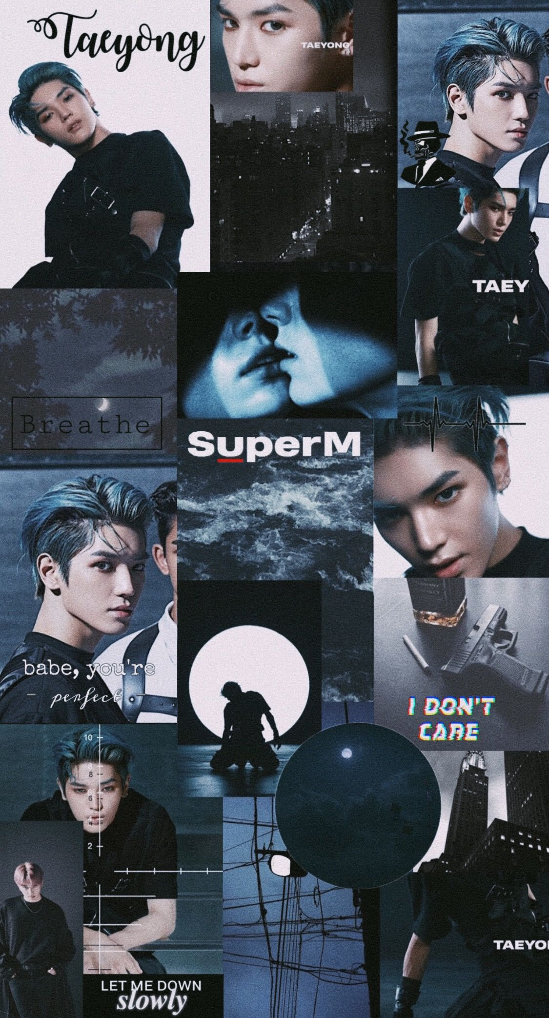 Superm Taeyong Collage Wallpaper Aesthetic