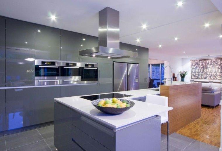 Barras de cocina de diseño moderno - 50 ideas   Barras de cocina ...