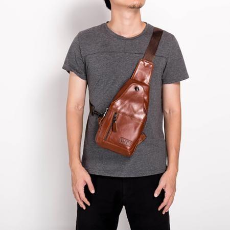 Men S Zip Casual Crossbody Bag Man Bags In 2019 Bags Mens