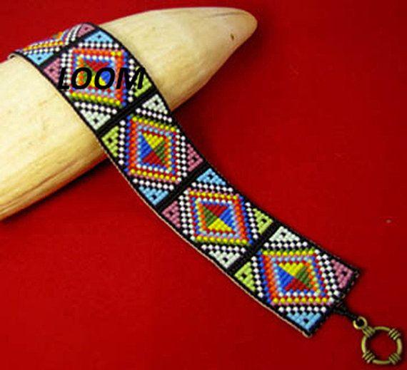 beadbrickie diamond rainbow loom bracelet pattern boncuk