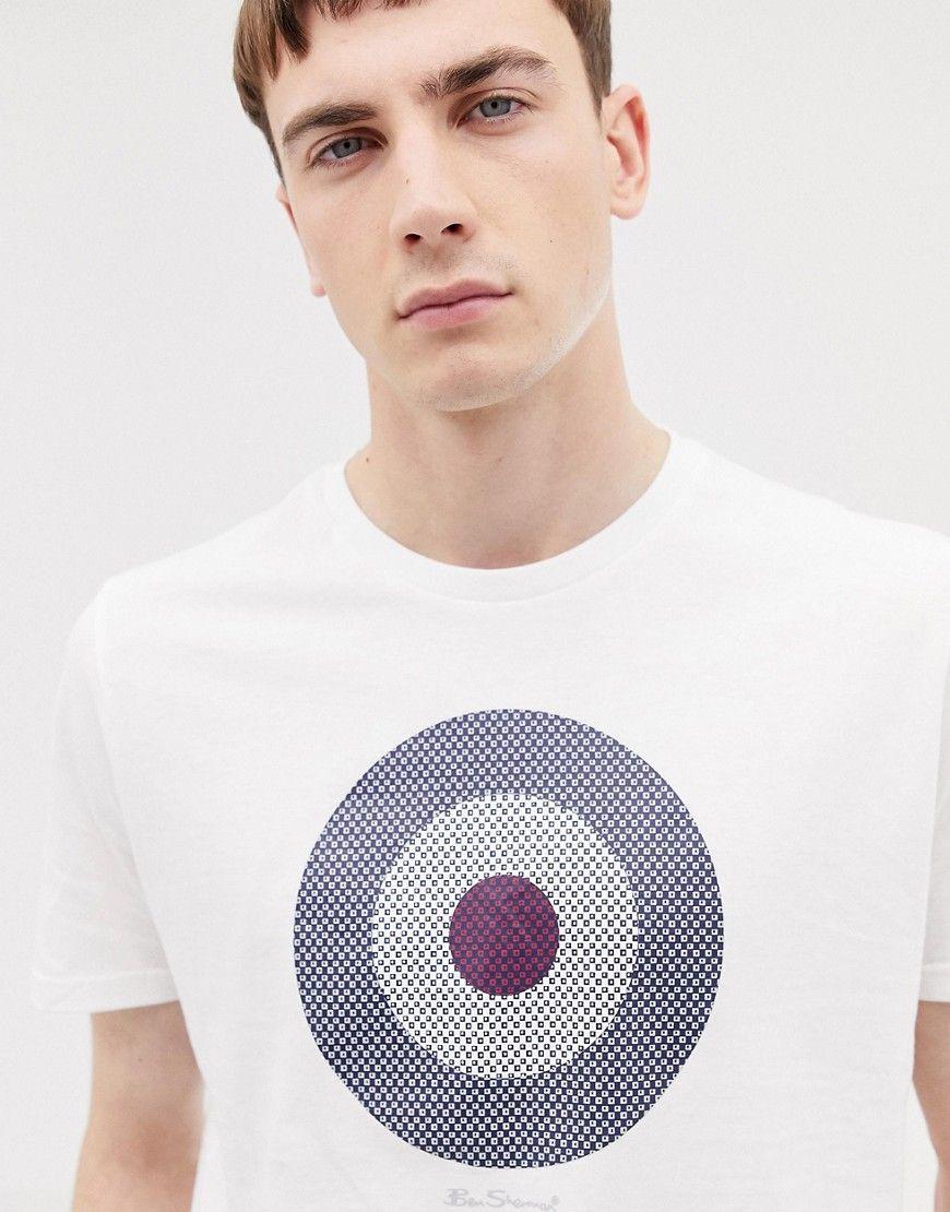09ea1a9ff13 BEN SHERMAN CHECK TARGET T-SHIRT - WHITE.  bensherman  cloth Ben Sherman